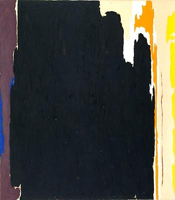 "Clyfford Still, ""Untitled 1951-T, No. 2,"" 1951. Oil on canvas, 93½ x 82 x 1½ inches, Detroit Institute of Arts, Founders Society Purchase, W. Hawkins Ferry Fund Image"