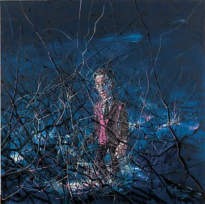 """Zeng Fanzhi, """"Untitled 08-12-19""""  2008 Oil on canvas 78 3/4 x 78 3/4 inches (200 x 200 cm) Image"""