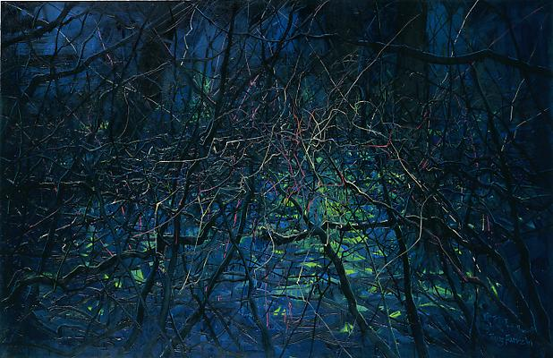 "Zeng Fanzhi, ""Untitled 08-4-6"" 2008 Oil on canvas 84 5/8 x 129 7/8 inches (215 x 330 cm) Image"