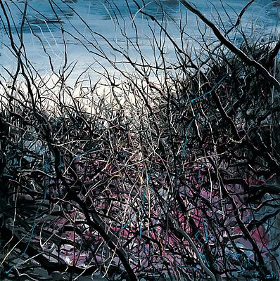"Zeng Fanzhi, ""Untitled 09-3-1""  2009 Oil on canvas 59 x 59 inches (150 x 150 cm) Image"