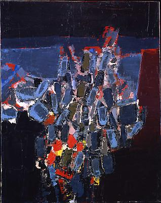 """NICOLAS DE STAEL """"Fleurs"""" 1952 Oil on canvas 31 7/8 x 25 5/8 inches (81 x 65 cm) Image"""