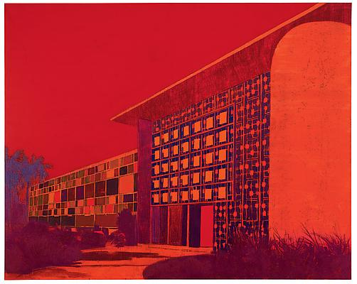 """Biblioteca Jose M. Lazaro, UPR, PR,"" 2010 Oil on canvas, 80 x 100 inches Image"