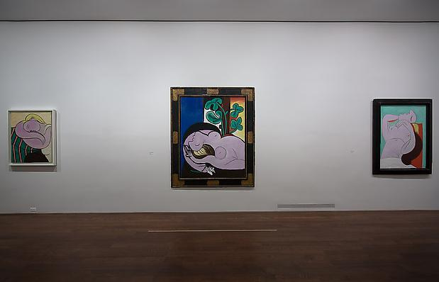 "From left to right: ""Woman with Yellow Hair,"" Solomon R. Guggenheim Museum, New York, Thannhauser Collection, Gift, Justin K. Thannhauser, 1978; ""Nude on a Black Armchair,"" Private Collection, Courtesy of Richard Gray Gallery; ""Sleep,"" Private Collection Image"
