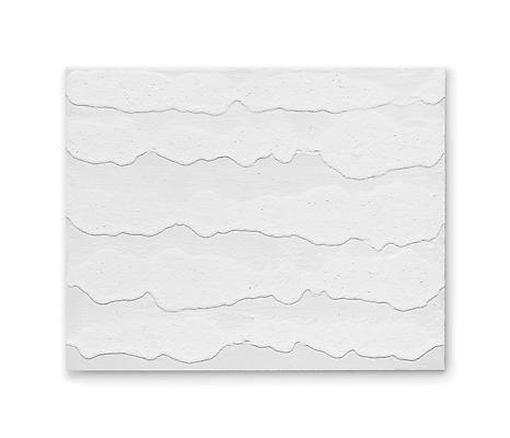 """Miquel Barceló, """"5 petites Vagues"""", 2012 White titanium pigment and polyvinyl acetate on linen 25 5/8 x 31 7/8 inches (65 x 81 cm) Art © 2012 Miquel Barceló / Artists Rights Society (ARS), New York / ADAGP, Paris Image"""
