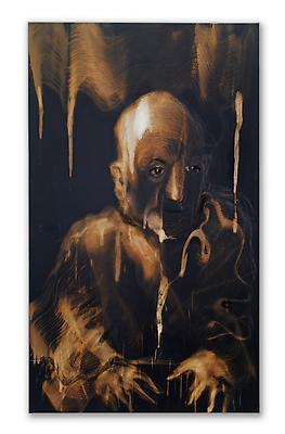 Miquel Barceló, Eric Mézil, 2011 Bleach, chalk and charcoal on canvas 61 x 35 7/8 inches (155 x 91 cm) Courtesy Acquavella Galleries Art © 2011 Miquel Barceló / Artists Rights Society (ARS), New York / ADAGP, Paris Image