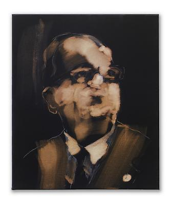 """Miquel Barceló, """"Gimferrer"""", 2010 Bleach, chalk and charcoal on canvas 25 5/8 x 21 1/4 inches (65 x 54 cm) Art © 2010 Miquel Barceló / Artists Rights Society (ARS), New York / ADAGP, Paris Image"""