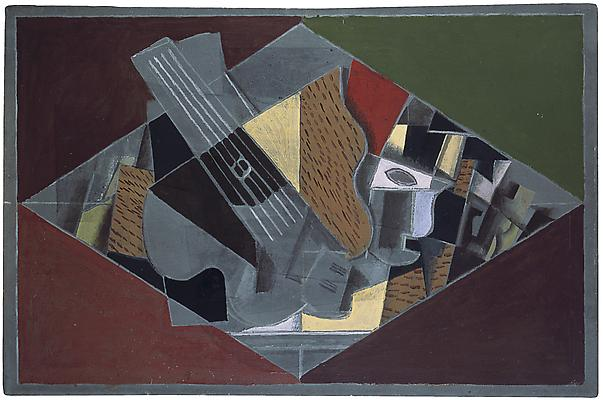 Guitar and Glass 1917 Oil on canvas 23 ⅝ x 36 inches (60 x 91.5 cm) Collection Kröller-Müller Museum, Otterlo, The Netherlands © 2011 Artists Rights Society (ARS), New York / ADAGP, Paris Image