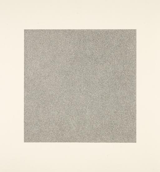 "Jacob El Hanani, ""Crosshatched"", 1999 Ink on paper, 22 1/8 x 22 inches Art © Jacob El Hanani"