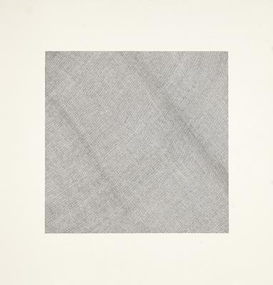 "Jacob El Hanani, ""Crosshatched Dish Towel"", 1998 Ink on paper, 20 5/8 x 20 5/8 inches Art © Jacob El Hanani Image"