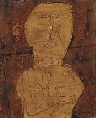 Jean Dubuffet, Cinq et un six, 1956 Oil on canvas 28 11/16 x 23 9/16 inches (73 x 60 cm) Courtesy Acquavella Galleries © 2014 Artists Rights Society (ARS), New York / ADAGP, Paris Image
