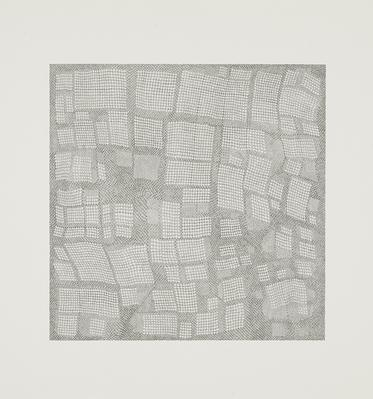 "Jacob El Hanani, ""Dish Towel Square"", 2003 Ink on paper, 18 x 18 inches Art © Jacob El Hanani Image"