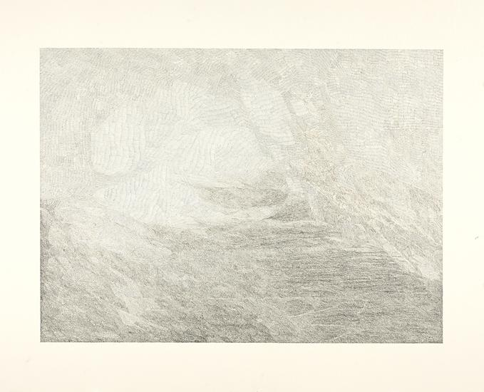 """Jacob El Hanani, """"Linescape (From the J. W. Turner Series)"""", 2012 Ink on paper, 22 x 28 inches Art © Jacob El Hanani"""