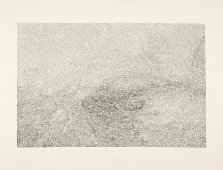 "Jacob El Hanani, ""Linescape A (From the J. W. Turner Series)"", 2012 Ink on paper, 20 1/2 x 28 inches Art © Jacob El Hanani"