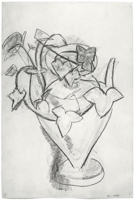 "Henri Matisse, ""Vase de lierre,"" c. 1915 Charcoal on paper, 22 x 14 4/3 inches  Art © 2015 Succession H. Matisse / Artists Rights Society (ARS), New York Image"