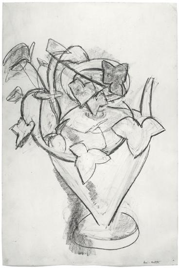 "Henri Matisse, ""Vase de lierre,"" c. 1915 Charcoal on paper, 22 x 14 4/3 inches  Art © 2015 Succession H. Matisse / Artists Rights Society (ARS), New York"