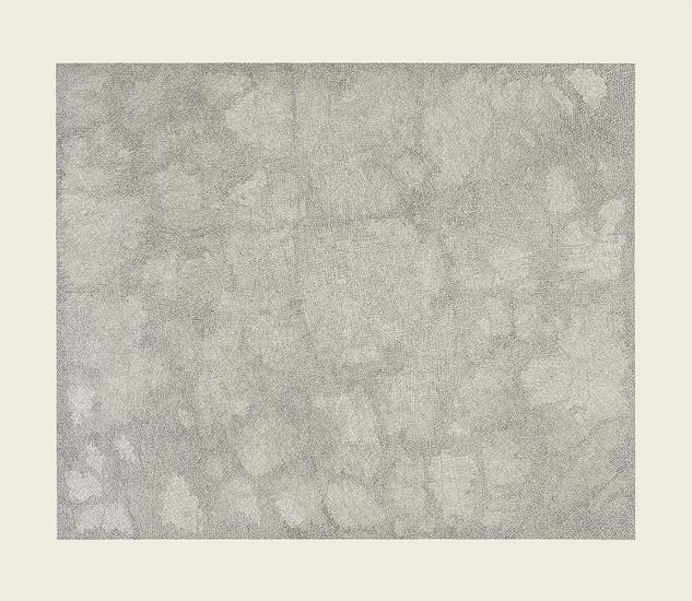 """Jacob El Hanani, """"Parallel Lines"""", 2014-15 Ink on paper, 32 x 37 inches Art © Jacob El Hanani"""