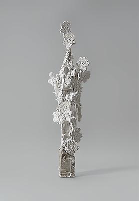 "Enoc Perez, ""Condado Beach Hotel"" November 2012 Plaster cast for bronze sculpture on stone base 44 x 14 x 9 inches (111.8 x 35.6 x 22.9 cm) Image"