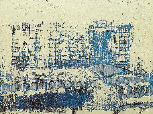 "Enoc Perez, ""Hotel La Concha, San Juan"" December 2012 Oil on canvas 60 x 80 inches (152.4 x 203.2 cm) Image"