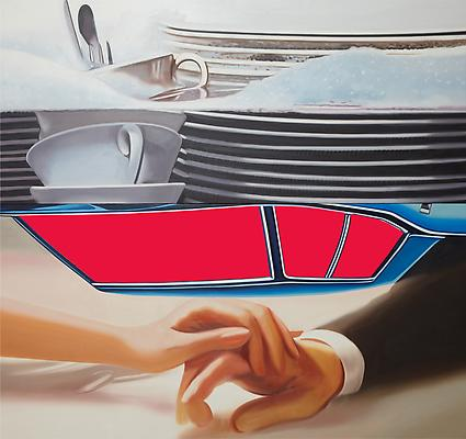 "James Rosenquist, ""The Facet"", 1978, oil on canvas, 90 1/4 x 96 1/4 inches Image"