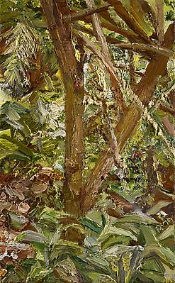 "Lucian Freud, ""Small Garden"" 1997 Oil on canvas, 8 x 5 in. (20.3 x 12.7 cm) Private Collection © The Lucian Freud Archive Image"