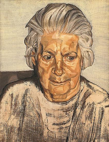 "Lucian Freud, ""The Painter's Mother"" 1972 Oil on canvas, 13 3/4 x 10 3/4 in. (35 x 27.2 cm) Acquavella Galleries © The Lucian Freud Archive"
