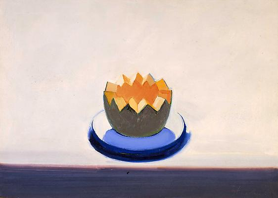 "Wayne Thiebaud, ""Melon"" 1962 Oil on canvas 20 x 28 inches (51 x 71 cm) Image"