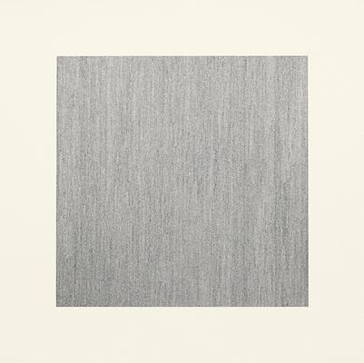 "Jacob El Hanani, ""Vertical Line"", 2011 Ink on paper, 18 x 18 inches Art © Jacob El Hanani Image"