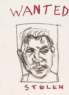 "Lucian Freud, ""Wanted"" 2001 Charcoal and pastel on paper 11 1/2 x 16 inches (29.2 x 40.6 cm) Private Collection © The Lucian Freud Archive Photo © Lucian Freud Archive Image"