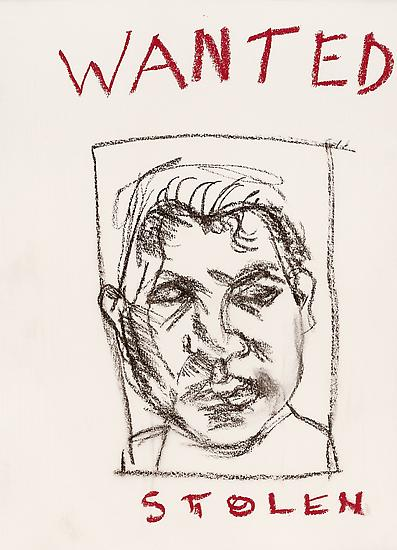 "Lucian Freud, ""Wanted"" 2001 Charcoal and pastel on paper 11 1/2 x 16 inches (29.2 x 40.6 cm) Private Collection © The Lucian Freud Archive Photo © Lucian Freud Archive"