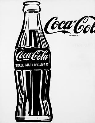 "Andy Warhol, ""Coca-Cola"", 1962. Casein on cotton, 69 3/8 x 54 inches (17 6.2 x 137.2 cm). Private Collection. Art © 2013 The Andy Warhol Foundation for the Visual Arts, Inc. / Artists Rights Society (ARS), New York Image"
