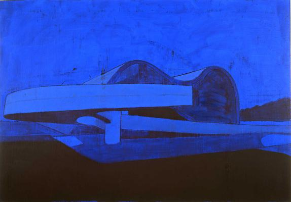 "Enoc Perez, ""Teatro Popular, Niteroi"" 2010 Oil on canvas, 42 x 60 inches"
