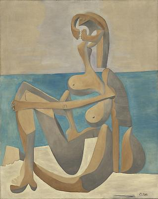 "Pablo Picasso, ""Seated Bather,"" early 1930 The Museum of Modern Art, New York.  Mrs. Simon Guggenheim Fund.  Digital Image© The Museum of Modern Art / Licensed by SCALA / Art Resource, NY Image"