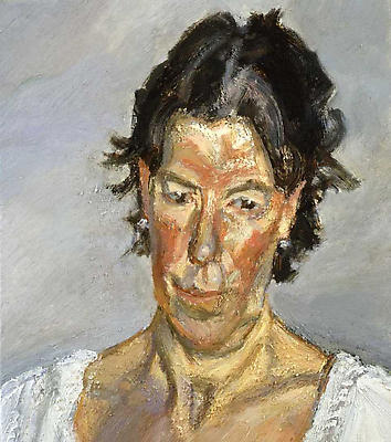 "Lucian Freud, ""Sally Clarke,"" 2008 Oil on canvas, 18 x 16 inches"