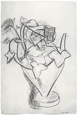 "Henri Matisse, ""Vase de Lierre,"" c. 1915 Charcoal on paper, 22 x 14 3/4 inches"