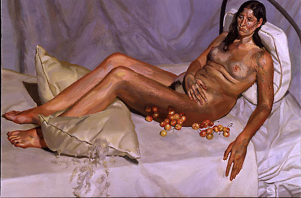 "Lucian Freud, ""Irishwoman on a Bed,"" 2003-4 Oil on canvas, 40 x 60 1/8 inches Image"