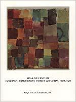 XIX & XX Century Drawings, Watercolors, Pastels, Gouaches, Collages