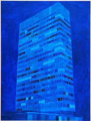 """Lever House, NY,"" 2010 Oil on canvas, 80 x 60 inches Image"
