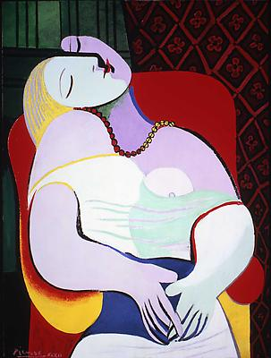 "Pablo Picasso, ""The Dream,"" January 24, 1932,  Oil on canvas 51 1/8 x 38 1/4 inches  Private Collection Image"