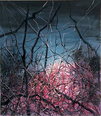 """Zeng Fanzhi, """"Untitled 08-3-2""""  2008 Oil on canvas 47 1/4 x 41 3/8 inches (120 x 105 cm) Image"""