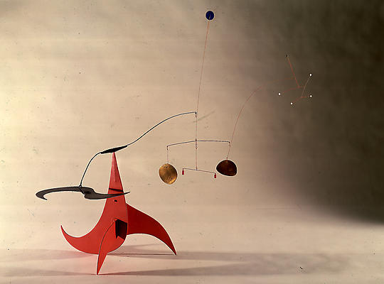 "Alexander Calder, ""Little Tinkle,"" 1938 Painted metal, 38 inches high Image"