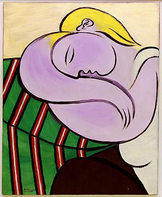 "Pablo Picasso, ""Woman with Yellow Hair,"" December 27, 1931 Solomon R. Guggenheim Museum, New York, Thannhauser Collection, Gift, Justin K. Thannhauser, 1978 Image"