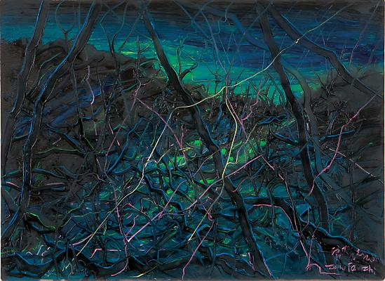 "Zeng Fanzhi, ""Untitled 08-4-1"" 2008 Oil on canvas 31 1/2 x 43 1/4 inches (80 x 110 cm) Image"