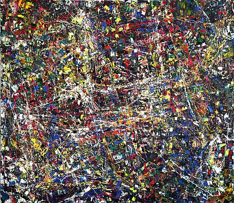 "Jean Paul Riopelle, ""Quinze Chevaux Citroën (Fifteen Horsepower Citroën)"" 1952 Oil on canvas 75 x 90 1/2 inches (190 x 230 cm) Image"