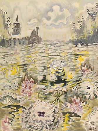 Charles Burchfield (1893-1967) A Sea of Queen Anne's Lace, 1962-63 Watercolor on paper 40 x 30 inches Image