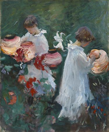 John Singer Sargent (1856-1925) Study For Carnation, Lily, Lily, Rose, 1885 Oil on canvas 23 1/2 x 19 1/2 inches Anonymous Image