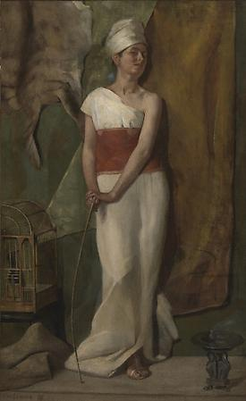Model in a Turban, 1878 Oil on canvas 16 x 10 inches Image