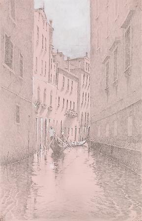 Sunlit Canal, 2009 Silverpoint and casein on prepared paper 9 x 5 3/4 inches Image