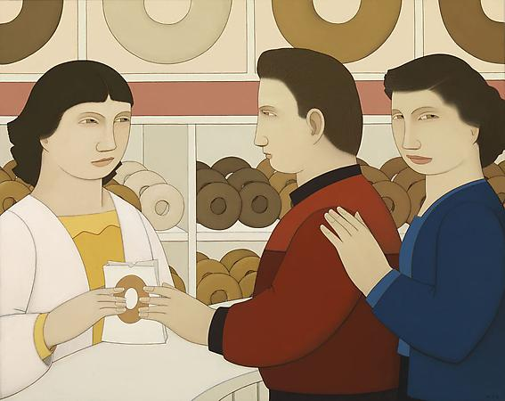 Donuts, 2009 Oil on linen 19 x 24 inches Image