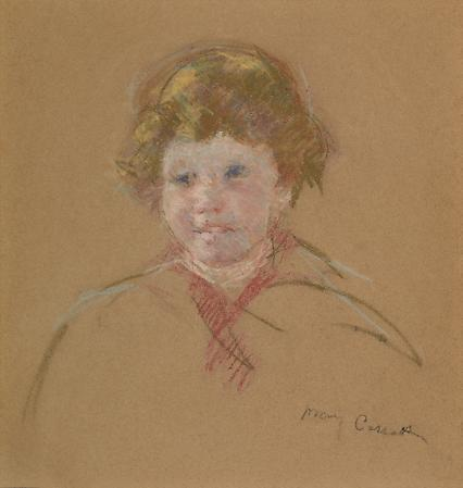Mary Cassatt (1844-1926) Sketch of Alexander J. Cassatt, c. 1914 Pastel on tan paper  17 1/2 x 16 5/8 inches Image