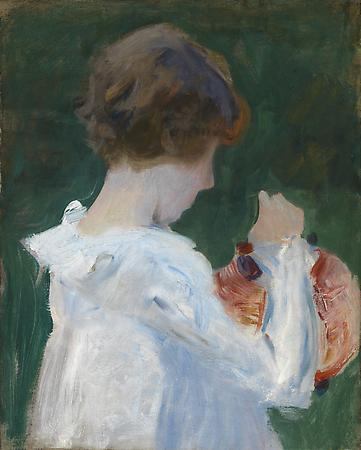 John Singer Sargent (1856-1925) Sketch for Carnation, Lily, Lily, Rose, 1885 Oil on canvas 19 3/4 x 15 7/8 inches Anonymous Image